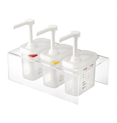 Araven Double Distributeur de Sauces | 2X GN 19 | Aravan | 2X 1,5 Litres