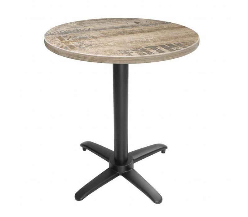 Bolero Pied de Table Basculant | Aluminium Noir | pour Plateaux Max.700mm