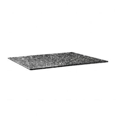 Topalit Plateau de Table Rectangulaire   Topalit Smartline   120X80cm   Granite Noir