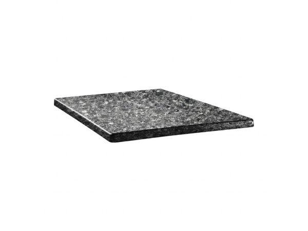 Topalit Plateau de Table Carré   Topalit Classic Line   Granite Noir   Disponible en 3 tailles