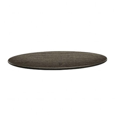 Topalit Plateau de Table Rond | Topalit Smartline | 80cm | Timber