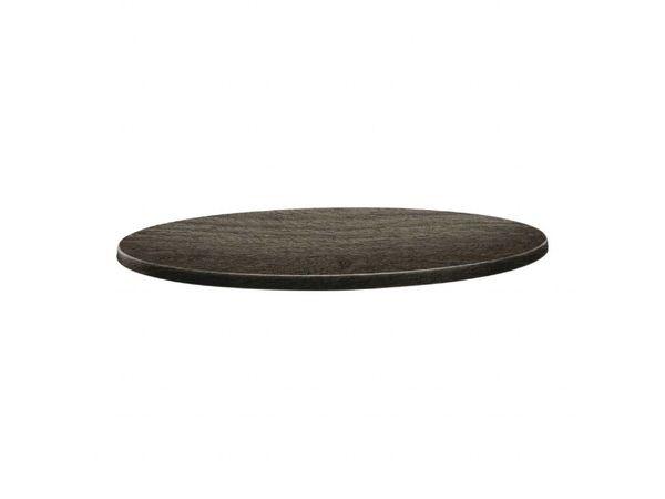 Topalit Plateau de Table Rond | Topalit Classic Line | Timber | Disponible en 3 tailles