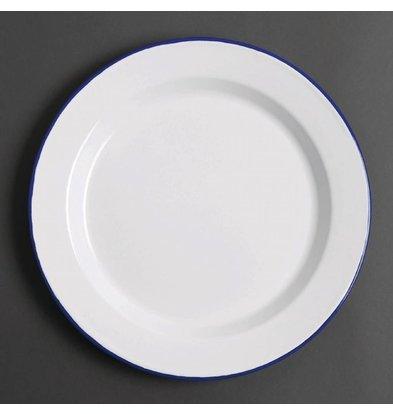 Olympia Assiette Plate en Acier Émaillé | 300mm | Lot de 6