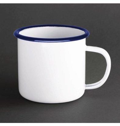 Olympia Grand Mug à Soupe en Acier Émaillé | 670ml | 110x146x(H)100mm  Lot de 6