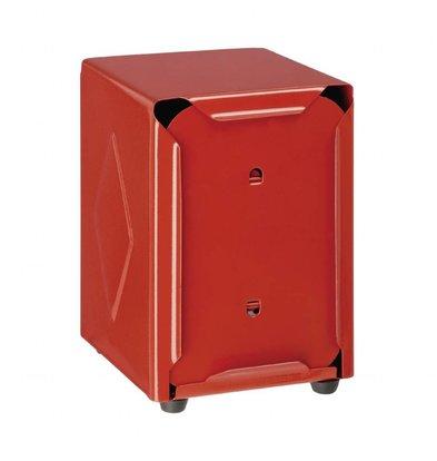 Olympia Distributeur de Serviettes | Inox Rouge | 107x90x120(h)mm
