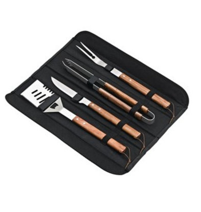CHRselect Kit Barbecue | 4 ustensiles | Deglon | Couteau et Fourchette à Viande | une Pince et une Spatule