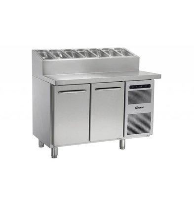 Gram Comptoir Pizza   INOX   2 Portes + 6 x 1   3GN   Gram GASTRO 07 K 1407 CSG PT DL   DR L2   1289x800x1131   1196(h)mm