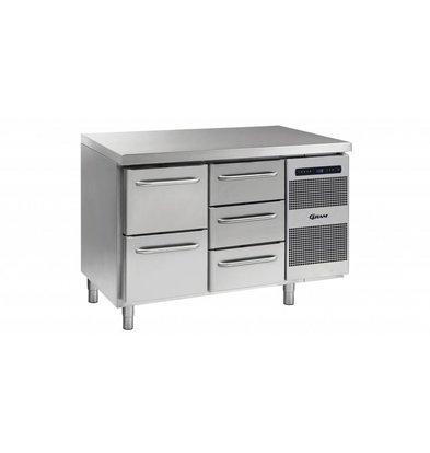Gram Comptoir Réfrigérateur 2 + 3 Tiroirs   Gram GASTRO 07 K 1407 CSG A 2D   3D L2   345L   1289x700x885   950(h)mm