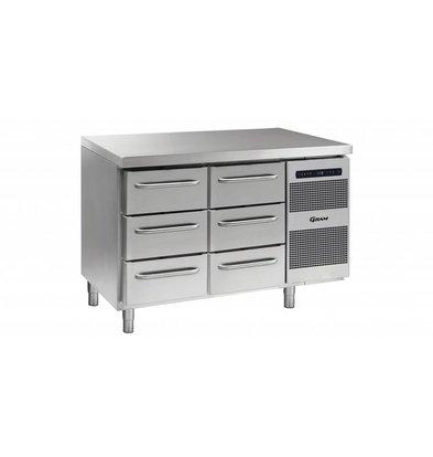 Gram Comptoir Réfrigérateur 3 + 3 Tiroirs   Gram GASTRO 07 K 1407 CSG A 3D   3D L2   345L   1289x700x885   950(h)mm
