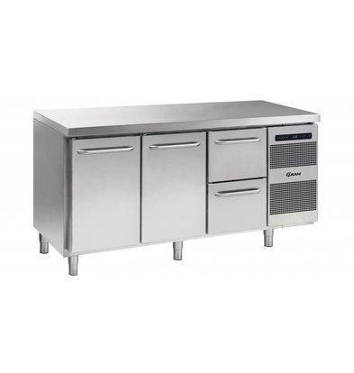 Gram Comptoir Réfrigérateur 2 Portes + 2 Tiroirs   Gram GASTRO 07 K 1807 CSG A DL   DL   2D L2   506L   1726x700x885   950(h)mm