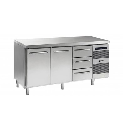 Gram Comptoir Réfrigérateur 2 Portes + 3 Tiroirs   Gram GASTRO 07 K 1807 CSG A DL   DL   3D L2   506L   1726x700x885   950(h)mm
