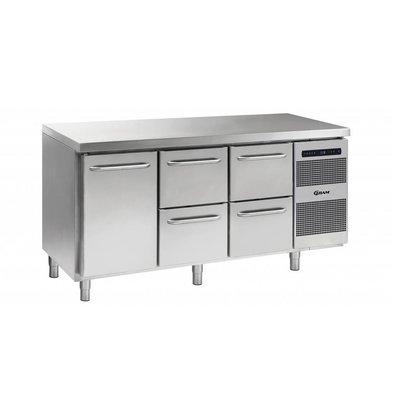 Gram Comptoir Réfrigérateur 1 Porte + 2x2 Tiroirs   Gram GASTRO 07 K 1807 CSG A DL   2D   2D L2   506L   1726x700x885   950(h)mm