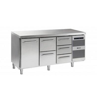 Gram Comptoir Réfrigérateur 1 Porte + 2 + 3 Tiroirs   Gram GASTRO 07 K 1807 CSG A DL   2D   3D L2   506L  1726x700x885   950(h)mm