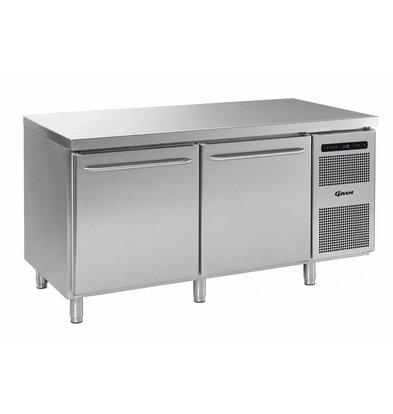 Gram Comptoir Réfrigérateur | INOX | 2 Portes | Gram GASTRO 08 K 1808 CSG A DL | DR | L2 | 586L | 1698x800x885 | 950(h)mm