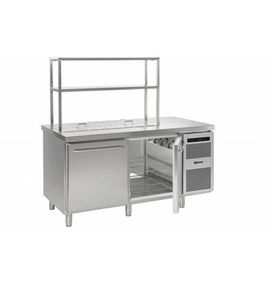Gram Comptoir Réfrigérateur | INOX | 2 Portes | Gram GASTRO 08 K 1808 D CSG S OPL DL | DR | L2 | 586L | 1698x800x885 | 950(h)mm