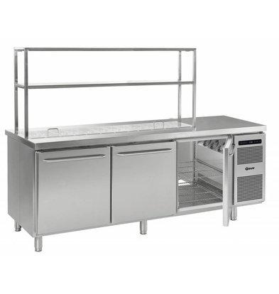 Gram Comptoir Réfrigérateur | INOX | 3 Portes | Gram GASTRO 08 K 2408 D CSG S OPL DL DL DR L2 | 865L | 2340870x885 | 950(h)mm
