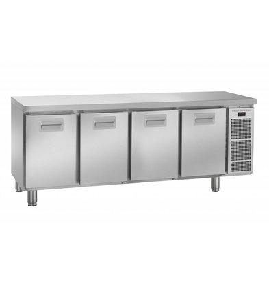Gram Comptoir Réfrigérateur | INOX | 4 Portes | Gram K2005 Snowflake | 495L | 2084X700X855(h)mm