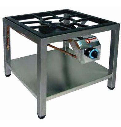 Diamond Brûleur Gaz | pour Paella | Ø250mm | 25 kW | 600x600x550(h)mm