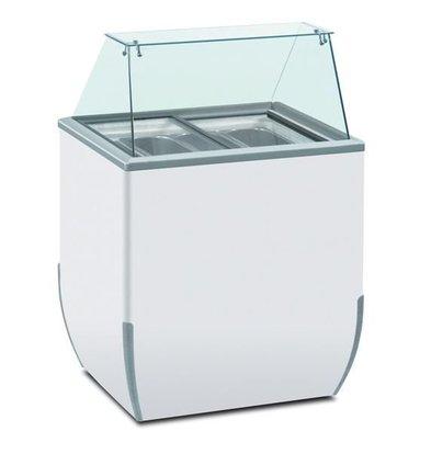 Diamond Comptoir Présentoir pour Crème Glacée | pour 4 Glacières | 170 litres | 780x640xh1185mm