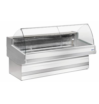 Diamond Comptoir Vitrine Réfrigérée | Elegance Plus | Vitre Bombée | 1040x(h)1200mm | 4 Largeurs