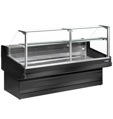 Diamond Comptoir Vitrine Réfrigérée | Noir | Elegance Plus | Vitre à Droite | Disponible en 4 Tailles