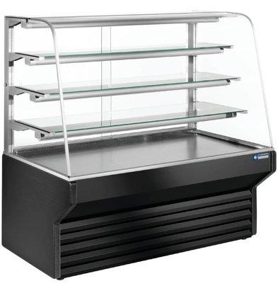 Diamond Comptoir Vitrine Réfrigéré | Noir | 4 Niveaux -790x(h)1330mm | 3 Largeurs