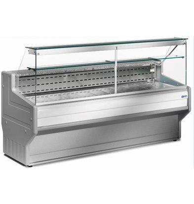 Diamond Comptoir Vitrine Réfrigérée | Vitre Droite | Température +4C° / +6C° | 2500x800x1220(h)mm