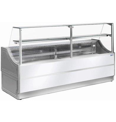Diamond Comptoir Vitrine Réfrigérée | Plan de Travail en Granit | Température +4C° / +6C° | 1000x810xh1350mm