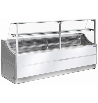 Diamond Comptoir Vitrine Réfrigérée | Plan de Travail en Granit | Température +4C° / +6 C° | Vitre à droite | 1500x750x(H)1350 mm