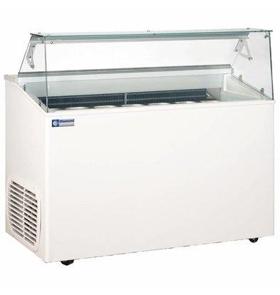 Diamond Comptoir Présentoir pour Crème Glacée | 7 Bacs | Isolation en Polyuréthane | 1367x690x(H)1175mm