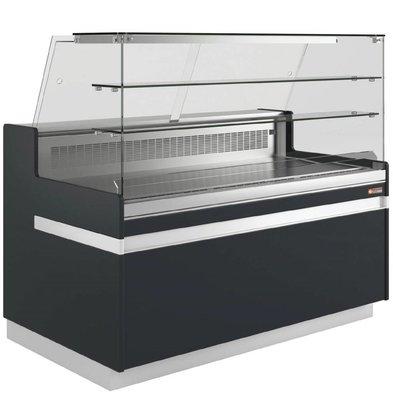 Diamond Comptoir Vitrine Réfrigérée | Metrika Line | Noir | 890x(h)1182mm | 6 largeurs