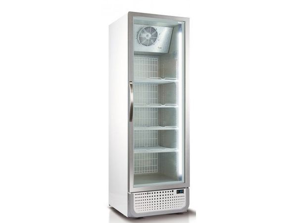 Husky Congélateur   Porte Vitrée   378L   Blanc / Argent   Eclairage LED   R290a   650x719x1985(h)mm