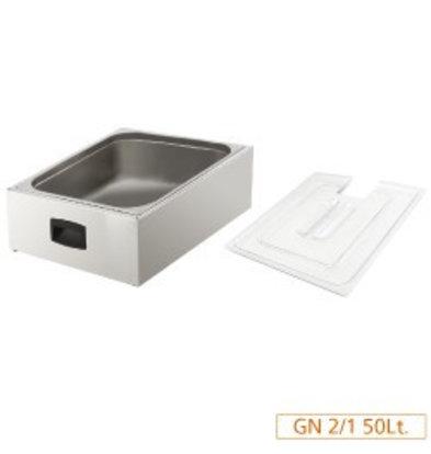 Diamond Cuve pour cuiseur avec couvercle | 2/1GN 200mm | 54 Litres