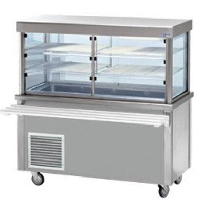 Diamond Elément vitrine et cuve Réfrigérée | armoire ouverte | 4 x 1/1 GN | 1500x700x(h)1620mm | 0,6 kW