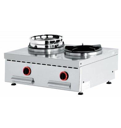Diamond Feu wok gaz de Comptoir | 2 feux || 2 x 15kW