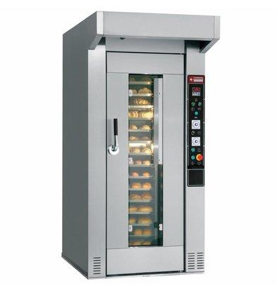 Diamond Four pour boulangerie et pâtisserie | Rotatif | 15/18 niveaux  (450x650 mm ou 500x700 mm)| 400v | 114x169x(h)224cm