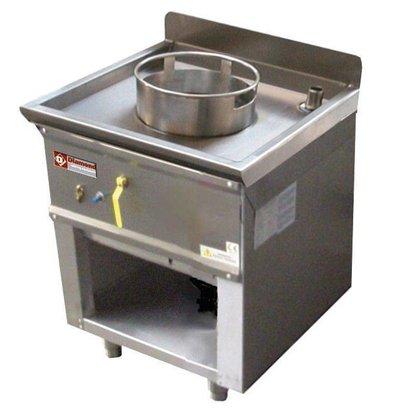 Diamond Fourneau wok 1 brûleur armoire ouverte | 23kW |