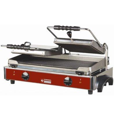 Diamond Grill panini électrique DOUBLE | plaques rainurées | 620x435x(h)240mm | 3,6 kW