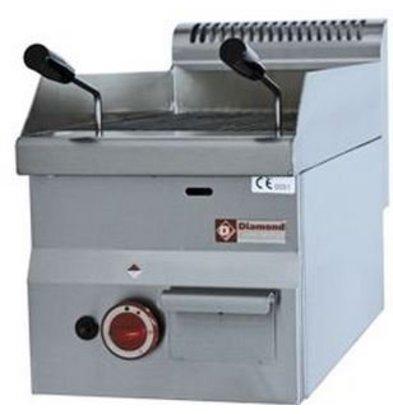 Diamond Grill pierre de lave gaz inox | Top | avec grille de cuisson en fonte | 30x60x(h)28/40cm | 3.9kW