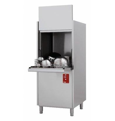 Diamond Lave-Batteries de Cuisine | Panier 550x610 mm | + Break Tank | 400V | 720x780x(h)2030cm