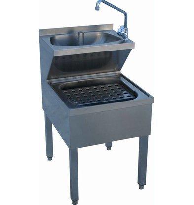 Diamond Lave-mains combiné sur piètement| Évier de décharge | PRO | 500x700x(H)620/870 mm
