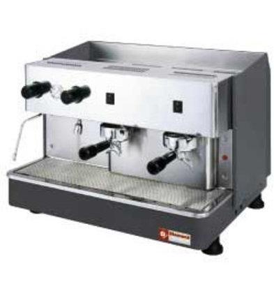 Diamond Machine à café expresso | 2 groupes Semi-Automatique | 2,9kW | 650x530x(H)430mm