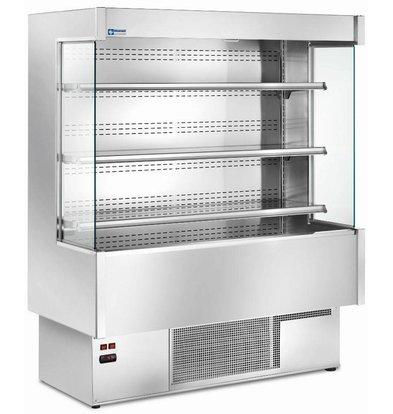 Diamond Meuble Réfrigéré 'Libre Service' INOX | 4 Etagères Réglables | +3/+6°C | Disponibles en 5 largeurs