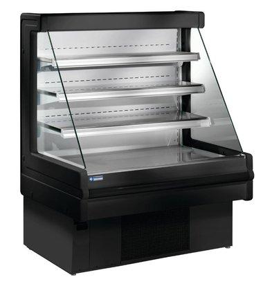 Diamond Meuble Réfrigéré 'Libre Service' Noir |  +4/+6°C | Etagères Réglables  | Disponibles en 3 Largeurs