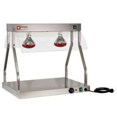Diamond Pont et top chauffants | lampes infrarouges 2 x 250W | 700 mm | 1,1 kW | 2 x 1/1GN