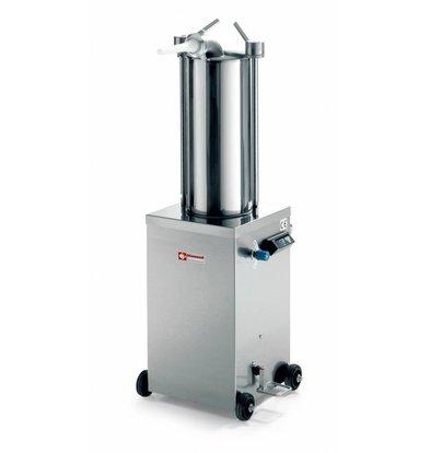 Diamond Poussoir hydraulique vertical en inox | 15 litres | sur roues | 0,7 PK | 490x700x(h)1200mm