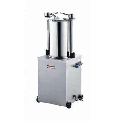 Diamond Poussoir hydraulique vertical en inox | 25 litres | sur roues | 0,7 PK | 565x950x(h)1160mm