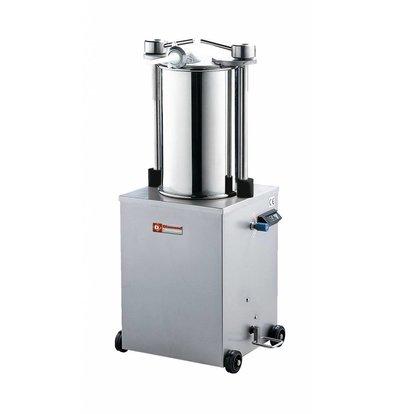 Diamond Poussoir hydraulique vertical en inox | 35 litres | sur roues | 0,7 PK | 640x480x(h)1160mm