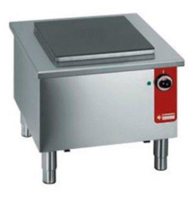 Diamond Réchaud bas électrique   INOX   Plaque fonte  40x40cm   580x580x(h)520mm