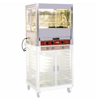 Diamond Rôtissoire à balancelles | électrique | 8kW | 5 balancelles | 25 poulets | 850x700x(h)940mm